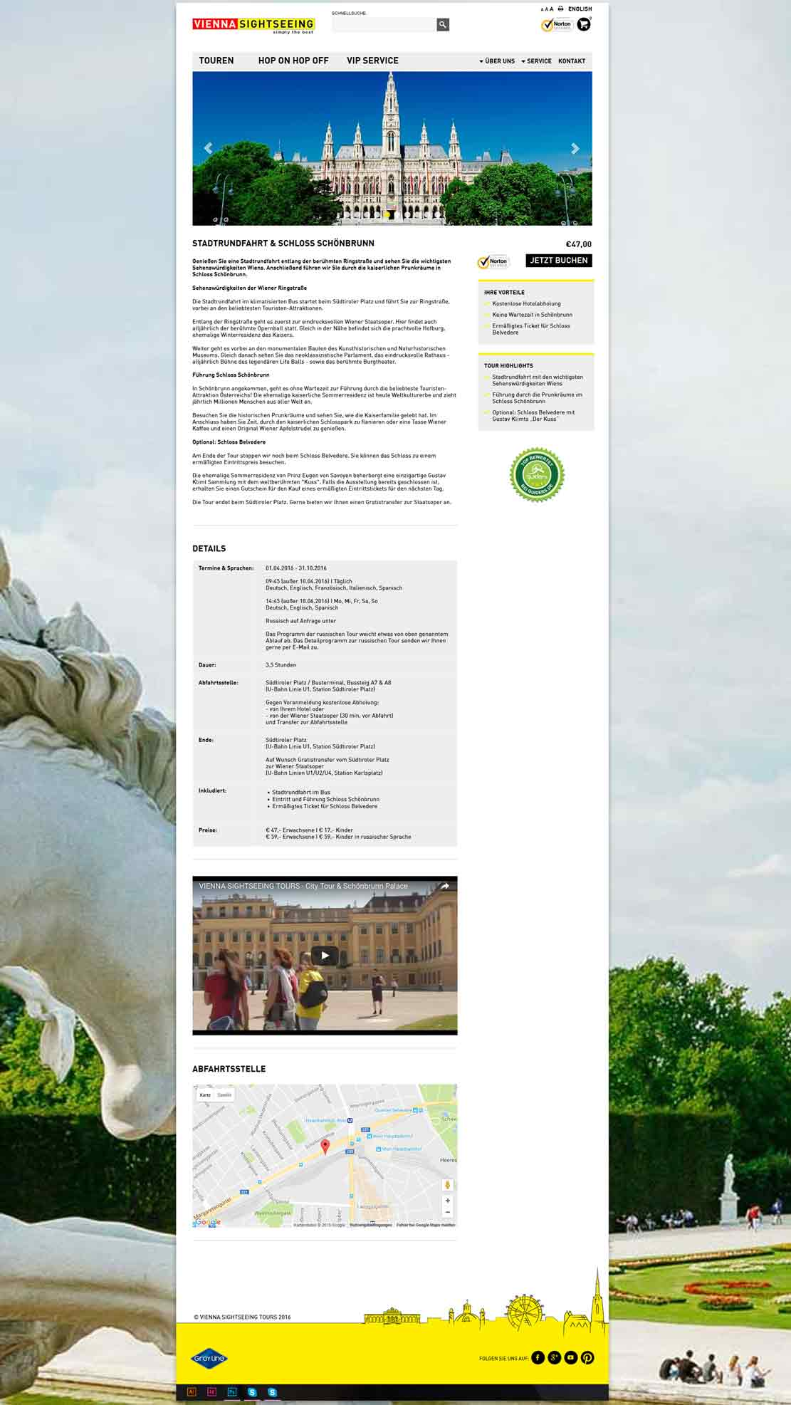 vienna sightseeing website